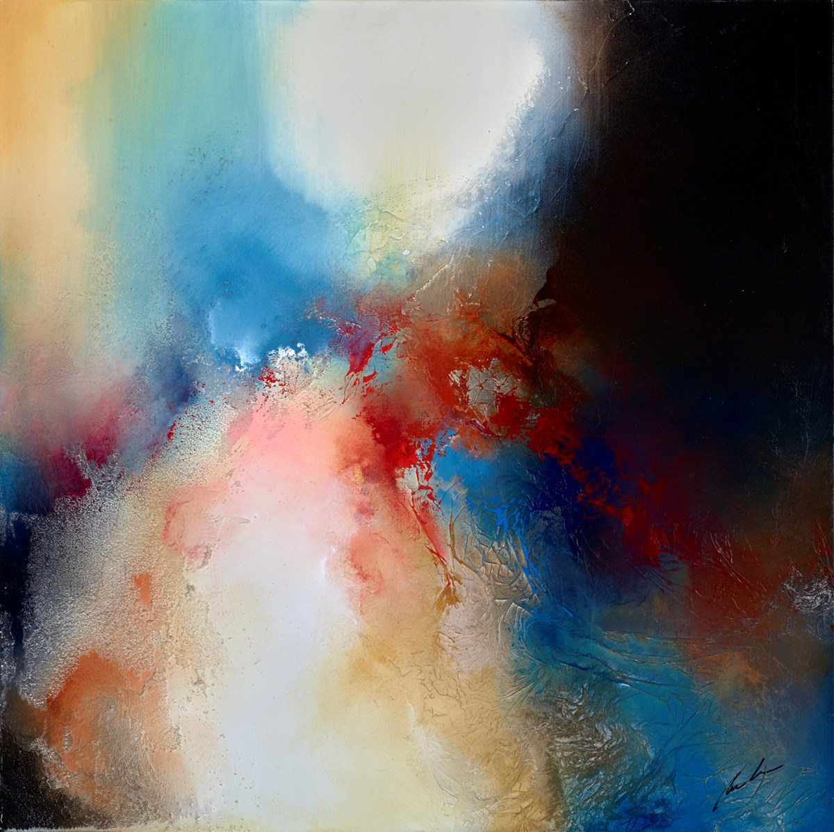 Atmos by simon kenny -  sized 30x30 inches. Available from Whitewall Galleries